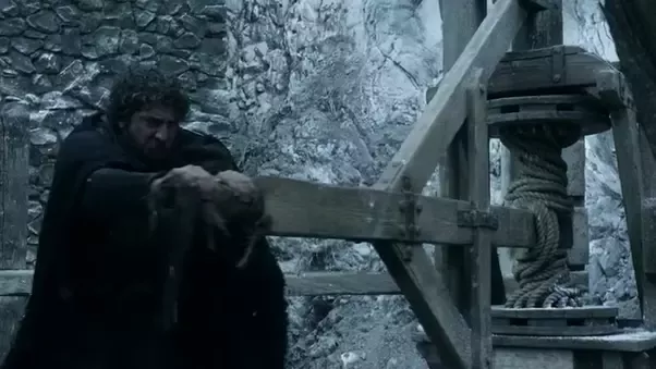 An elevator operator at Castle Black pictured in HBO television show Game of Thrones