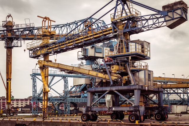 A crane at a dockyard increases project efficiency