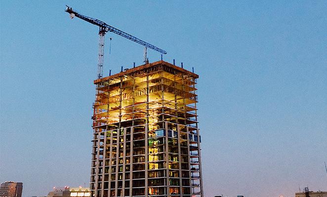 Photo shows construction jobsite