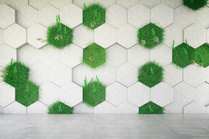 concrete-geometric-wall-with-greass