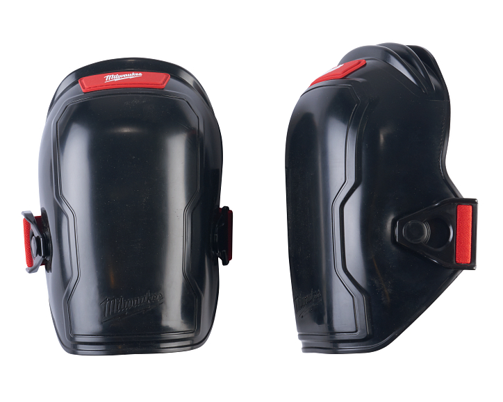 a pair of free-flex kneepads, manufactured by Milwaukee Tool