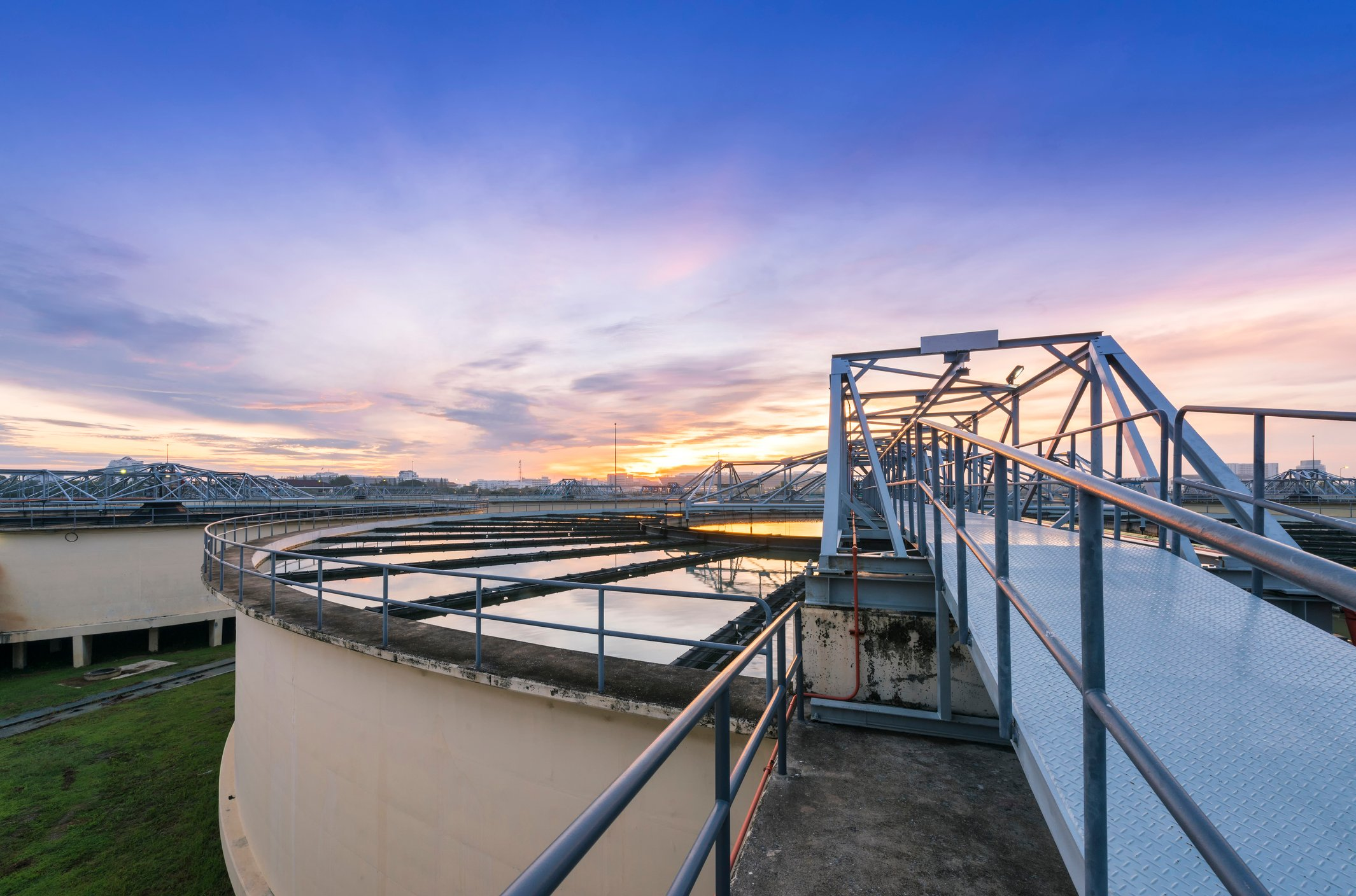A municipal water purification plant specializes in wastewater recycling
