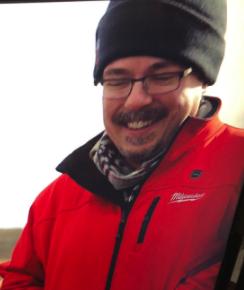 Vince Gilligan, Breaking Bad creator, wearing a Milwaukee Tool heated jacket