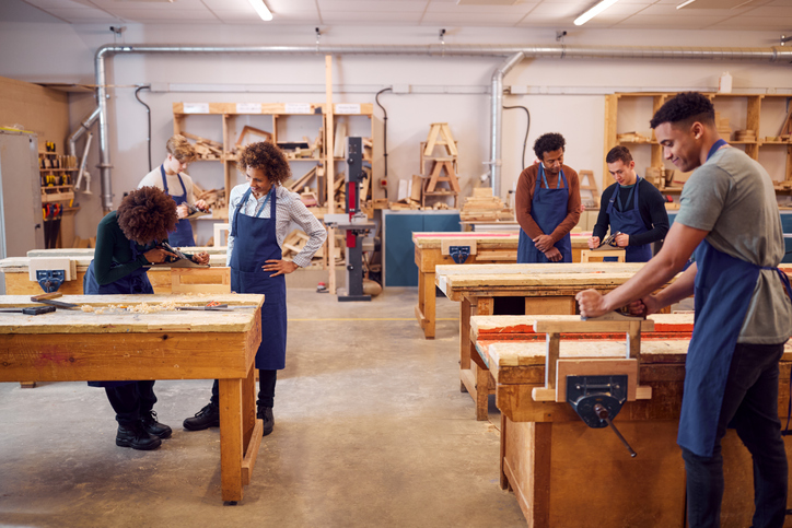 Students get woodworking education in wood shop