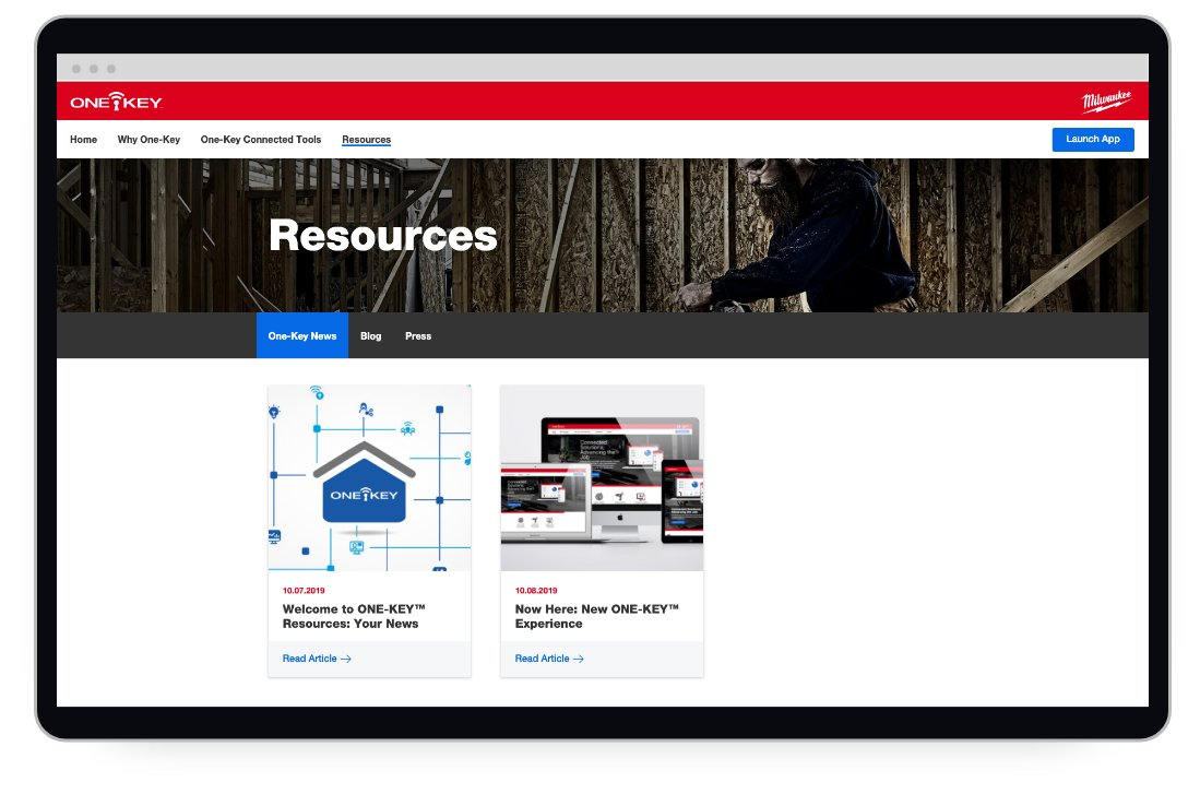 The news section of a resources page on tool tracking