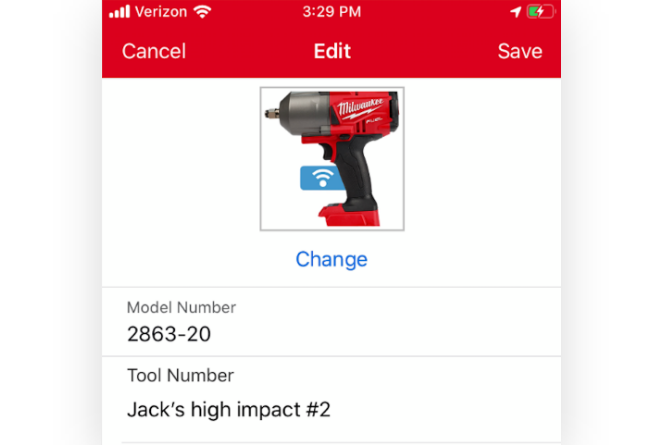 One-Key inventory app lets you add your own tool numbers
