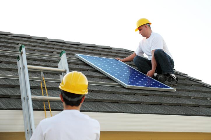 Solar panel installers utilizing alternative, renewable energy source